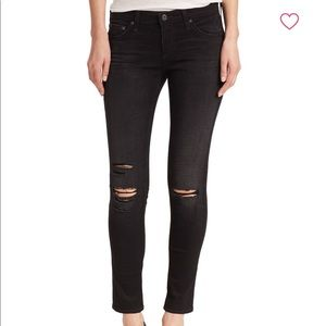 AG Jeans - Distressed Super Skinny Ankle